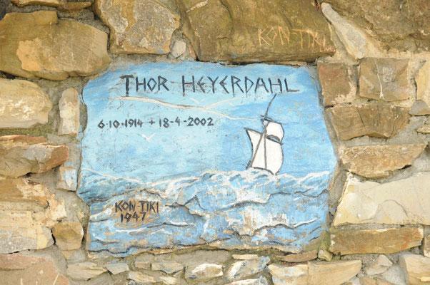Das Grab von Thor Heyerdahl