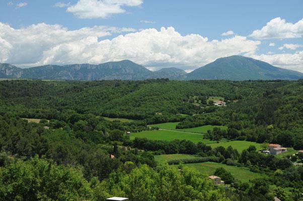 Blick vom Hügel oberhalb von Riez