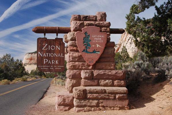 Eingang in den Zion Nationalpark
