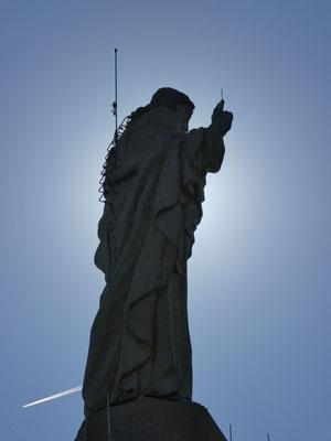 Christus Statue auf dem Berg Urgull