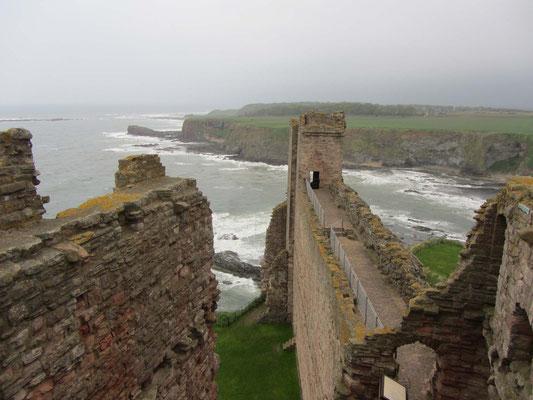 Tantallon Castle - ab jetzt ist Dauerregen angesagt