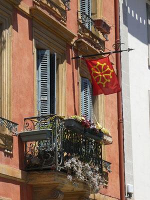 Die Flagge von Okzitanien