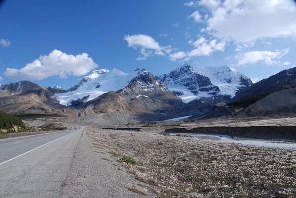 Fahrt durch den Icefield Parkway