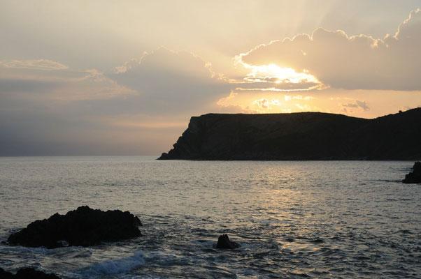 Sonnenaufgang in Comillas