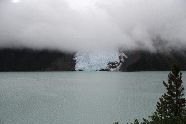 Mount Robson - kalbender Gletscher