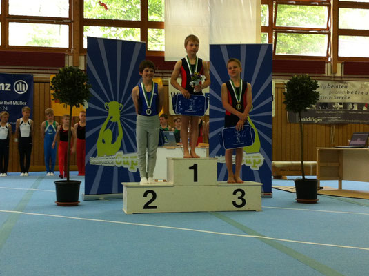 2.Platz am Kunsturnen Jugendcup in Schaffhausen 2012