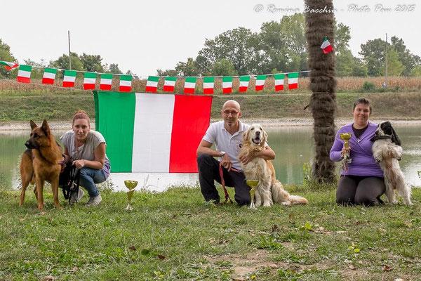ecco i 3 campioni italiani, rispettivamente a sx clsse large, centro classe medium e noi classe small