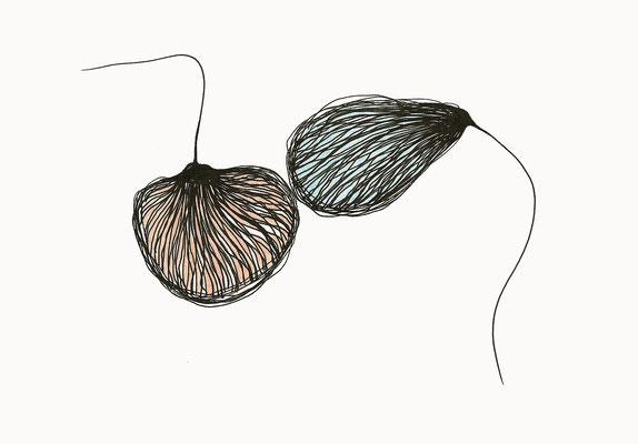 © cesa wendt  |  melancholie der sehnsucht (10), 2017  |  14,8 x 21 cm  |  tusche, farbstift / ink, coloured pencil|  bild-nr. 2017_04_09
