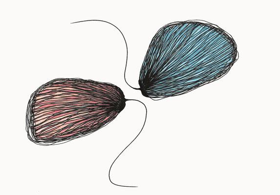 © cesa wendt  |  melancholie der sehnsucht (5), 2017  |  14,8 x 21 cm  |  tusche, farbstift / ink, coloured pencil  |  bild-nr. 2017_04_04