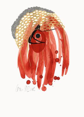 © cesa wendt | unexpected landscapes (8), 2012 | 29,7 x 21 cm | farbstift, tusche, aquarell, kohle, transparentpapier / coloured pencil, ink, water colour, charcoal, transparent paper | bild-nr. 2012_09_08
