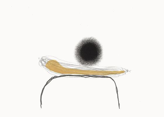 © cesa wendt | o.t., 2014 | 14,8 x 21 cm | bleistift, kohle, aquarell / pencil, charcoal, water colour | bild-nr. 2014_01_29