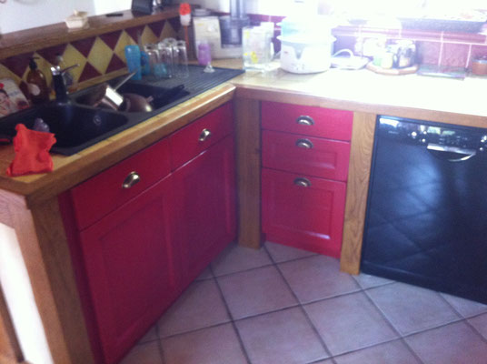Cuisine en chêne, tiroirs en hêtre (1)