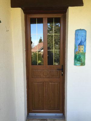 Porte PVC ton bois