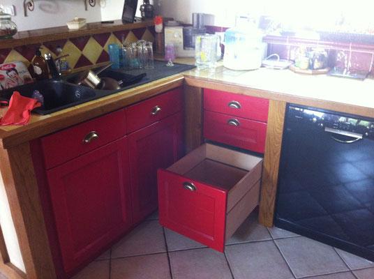 Cuisine en chêne, tiroirs en hêtre (2)