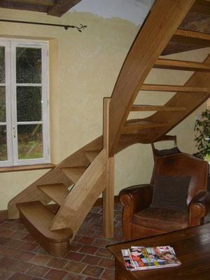 Escalier en chêne traditionnel 1