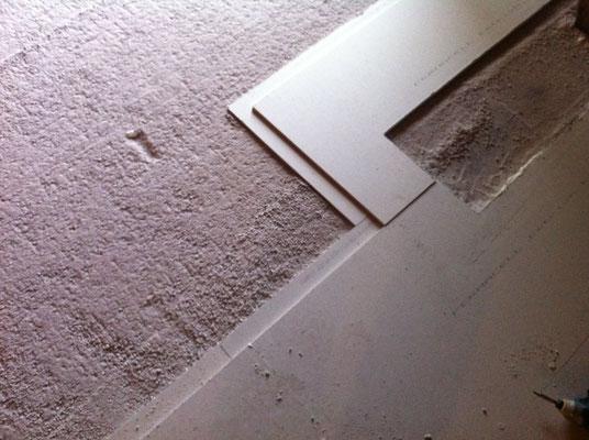 Placo sol étape 3 : pose des plaques de placo sol