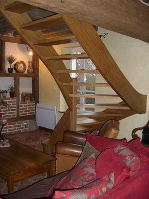 Escalier en chêne traditionnel 2