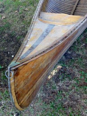 identification canoë Chauvière - HERITAGE CANOE BOIS