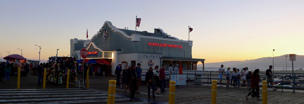 Santa Monica Pier for a Sunset drink. All done right!