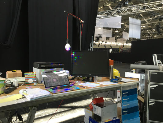 """2016_After having done more than 500 times """"Saturday Night Fever"""" in my early days, the MIRROR BALLs seam to follow me. EA @ gamescom with Team Sollik."""