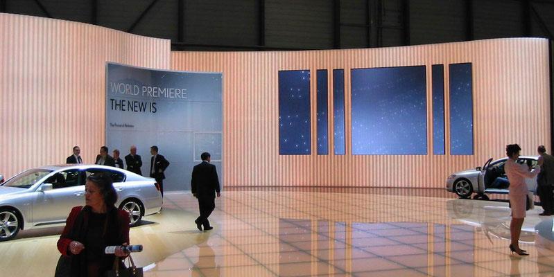 Lexus in Geneva. The way we lit the floor and the walls was almost unseen before...