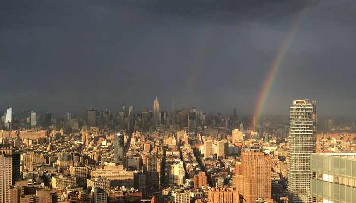 Even the Rainbow starts here in Manhattan! New York 2016 with tkE.