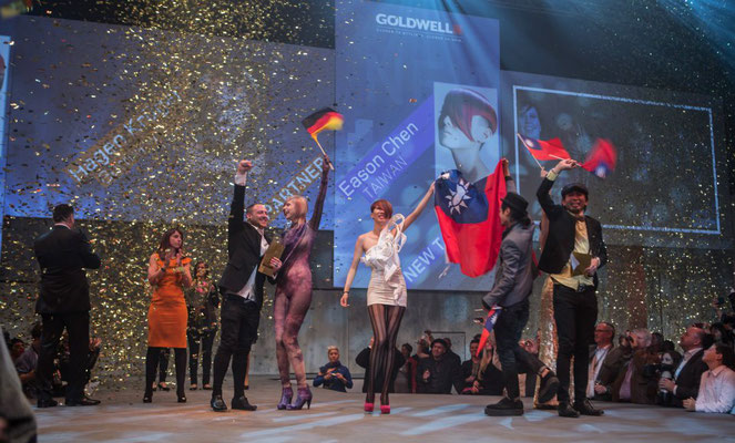 Goldwell / KAO fashion show in London with Team Sollik.