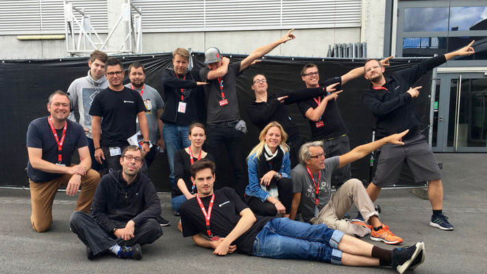 2016_Just the Live Show Crew on this pic. Thanx to all you others, GREAT TEAM!!! EA @ gamescom with Team Sollik.