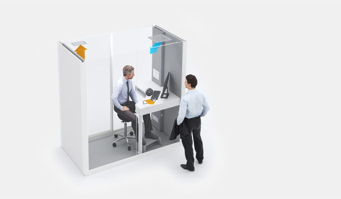 Vetrospace safety workstation - one-person service pods