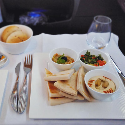 On-board cuisine | Review: Qatar Airways Business Class A380 Doha to Atlanta Inaugural Flight | via @Just1WayTicket