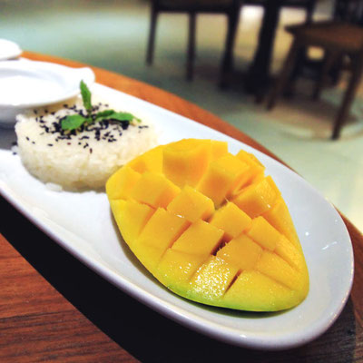 Mango Sticky Rice at the U Zenmaya Phuket Resort | Travel Guide To Phuket: Things To Do in Phuket And Places To Stay | via @Just1WayTicket | Photo © Sabrina Iovino