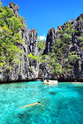 Twin Lagoon in Coron, Palawan | Coron Or El Nido? Which One Is Really Better? | A Travel Guide to Philippines Last Frontier | via @Just1WayTicket