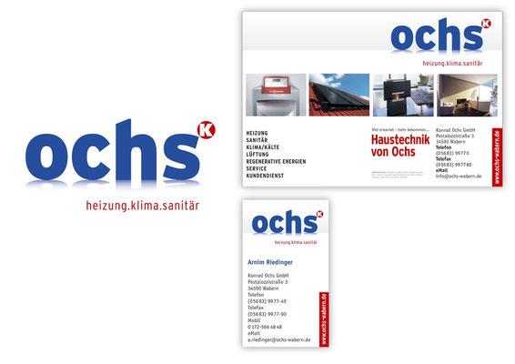Ochs Sanitär... neues CD, Logo-ReDesign