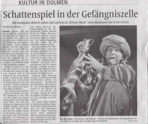 Kritik zum ProFi-Frühsommer-Special 2014 in der Dülmener Zeitung