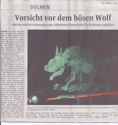 """Das """"Erfreuliche Theater"""" aus Erfurt mit den 7 Geisslein und dem Wolf"""