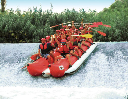 descenso al Río Segura en banana doble