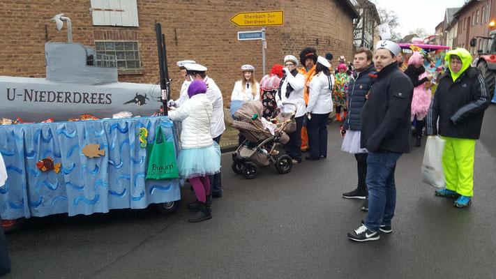 U-Boot Niederdrees Karnevalszug 2018 Spielmannszug Echo