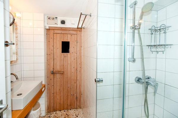 Area B, sauna entrance