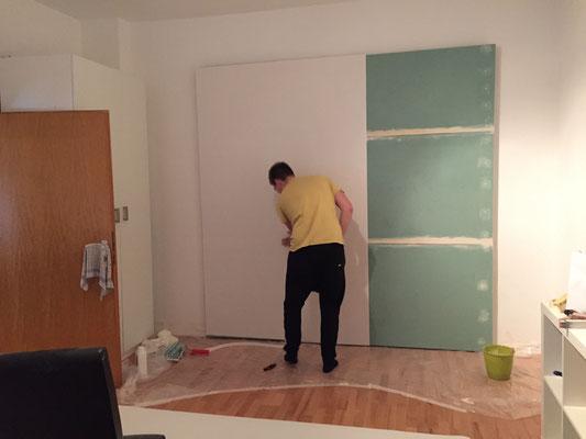 Tür Verstecken diy großprojekt wandgestaltung rabenkind und lausebengel der