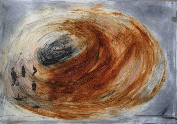 Enfer, Encre et Cirage, 30x42 cm