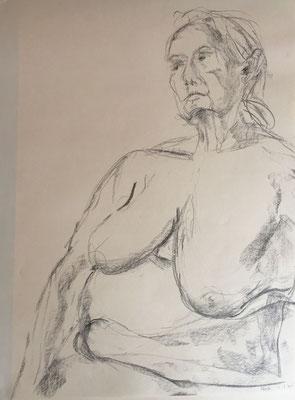 Paola, Fusain, 40x50 cm