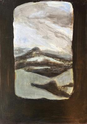 2017, acrylique et cirage, 29x42 cm