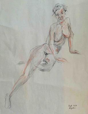 Agniska, Conté, 60x80 cm