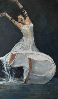 Effroi, Huile sur toile, 97x163 cm