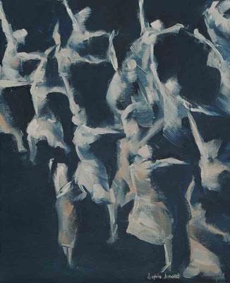 Fugace II, Huile sur toile, 37x46