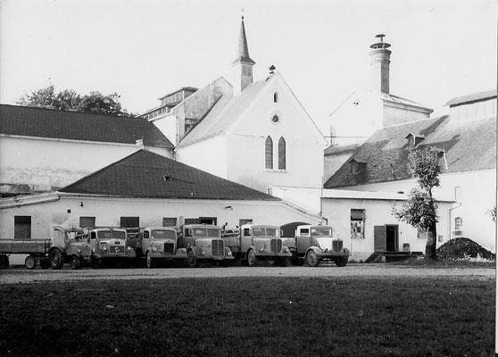 Der Fuhrpark der Brauerei