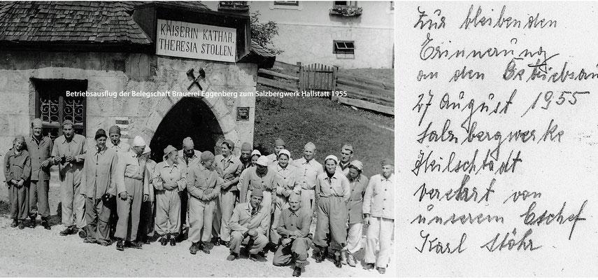 Betriebsausflug Brauerei Eggenberg 1955
