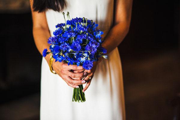 Blauer-Brautstrauß