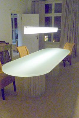 esstisch lampe plexiglas acrylglas möbel