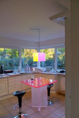 esstisch lampe plexiglas